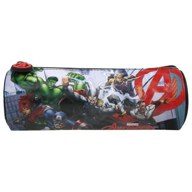 Marvel Avengers - rond etui - 20 x 7 cm - Multi