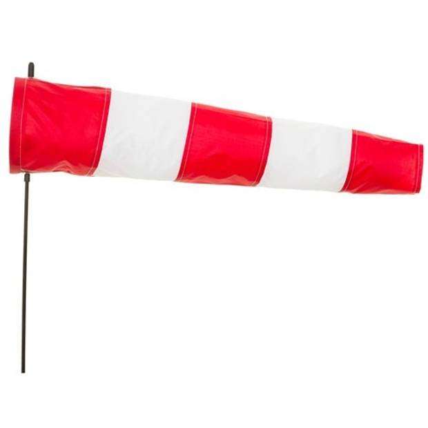Invento windsock Airport 60 cm rood/wit