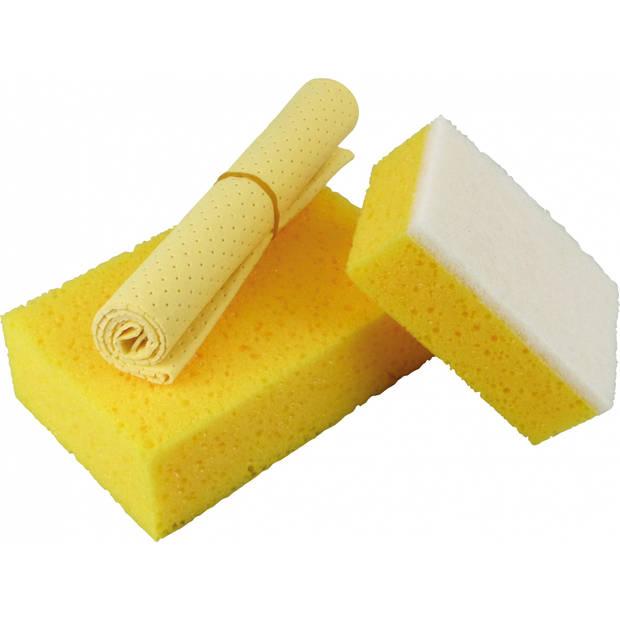 Protecton schoonmaakset 3-delig geel