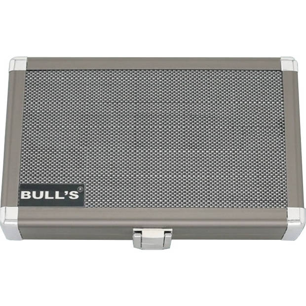 Bull's dartkoffer Dartsafe L zilver 19 x 12 x 4 cm