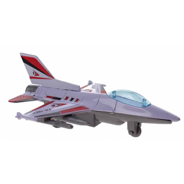 Jonotoys Vliegtuig FA-18EF 10 cm roze