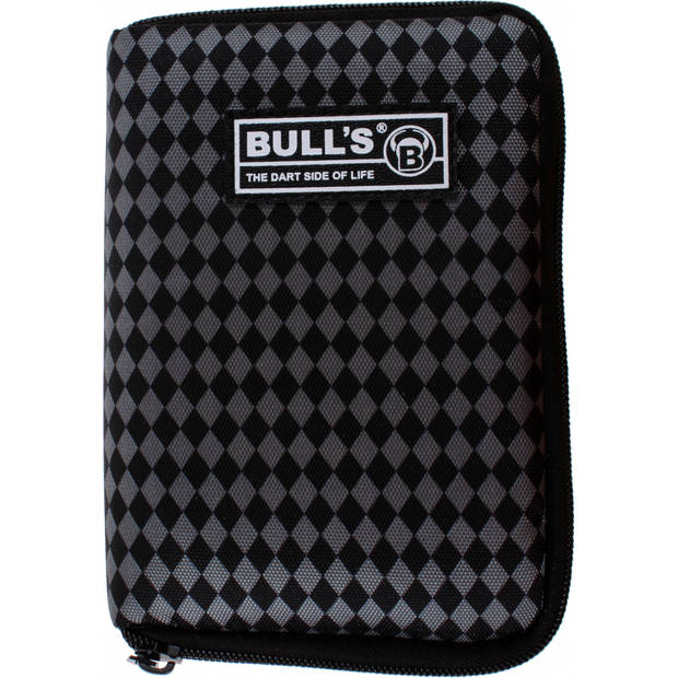 Bull's dartetui TP geruit grijs/zwart 18 x 12 x 5 cm