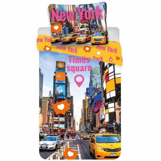 Times Square - Dekbedovertrek - Eenpersoons - 140 x 200 cm - Multi