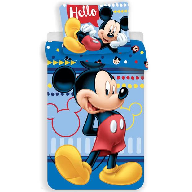 Disney Hello - Dekbedovertrek - Eenpersoons - 140 x 200 cm - Multi