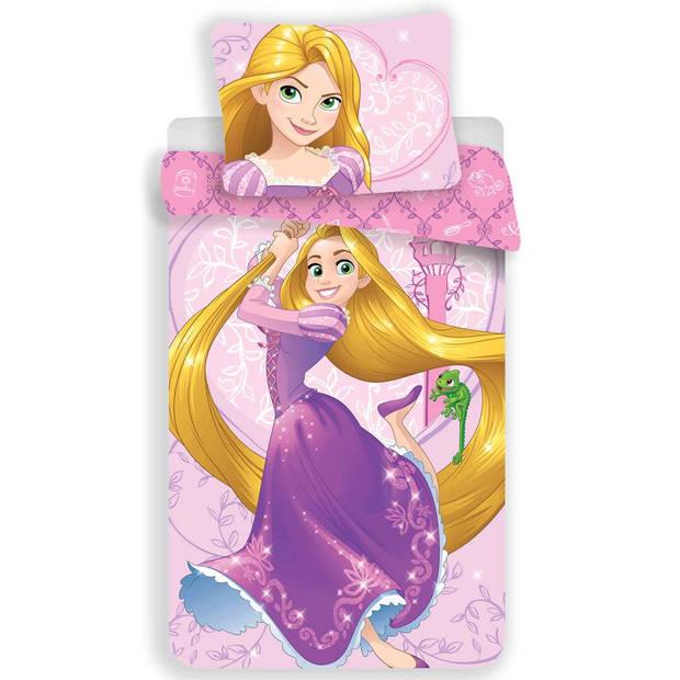 Disney Rapunzel - Dekbedovertrek - Eenpersoons - 140 x 200 cm - Roze