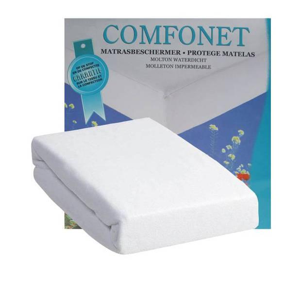 Comfonet Molton matrasbeschermer Waterdicht - Wit - 80x200