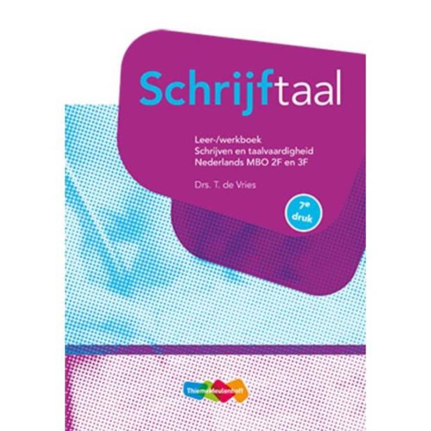 Schrijftaal / Nederlands Mbo 2f En 3f /
