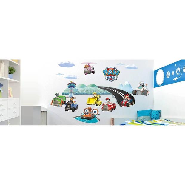 Nickelodeon muursticker Paw Patrol voertuigen 2 stickervellen