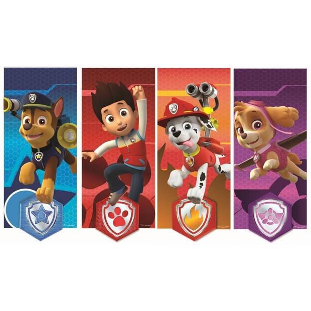 Nickelodeon muurstickers Paw Patrol canvas 2 stickervellen