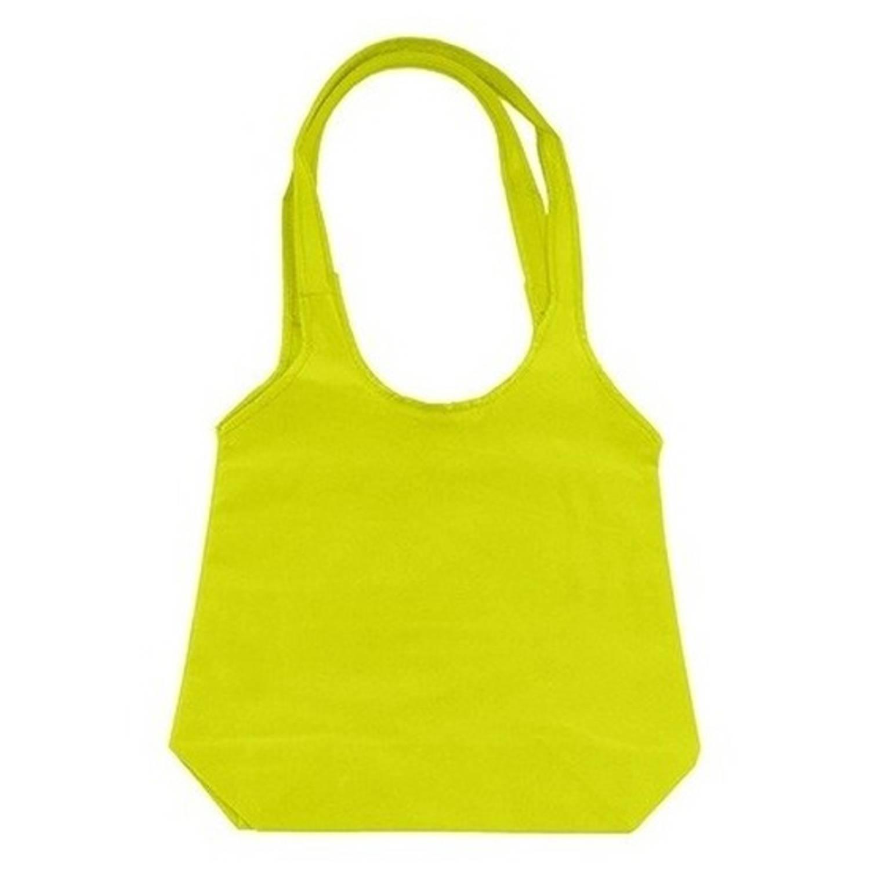 Korting Limegroene Opvouwbare Tas Met Hengsels 43 X 41 Cm Shopper