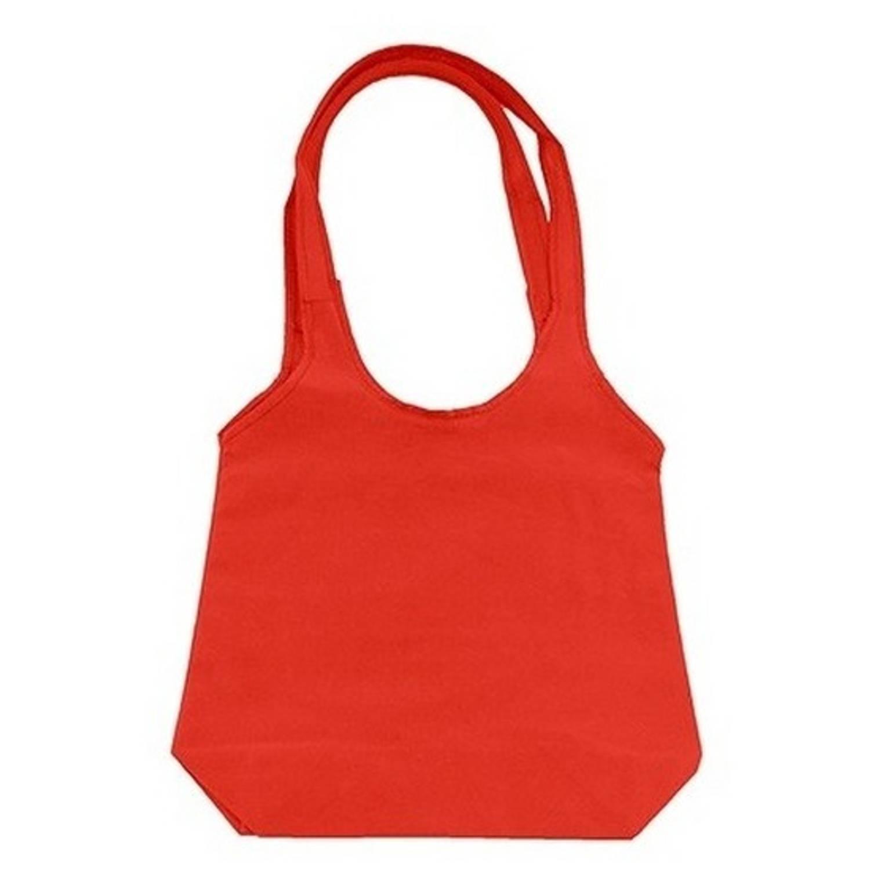 Korting Rode Opvouwbare Tas Met Hengsels 43 X 41 Cm Shopper