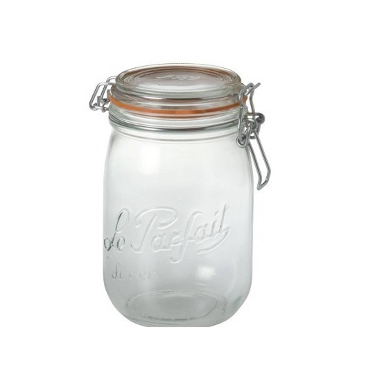 3x stuks Weckpotten/inmaakpotten met klepdeksel 1 liter