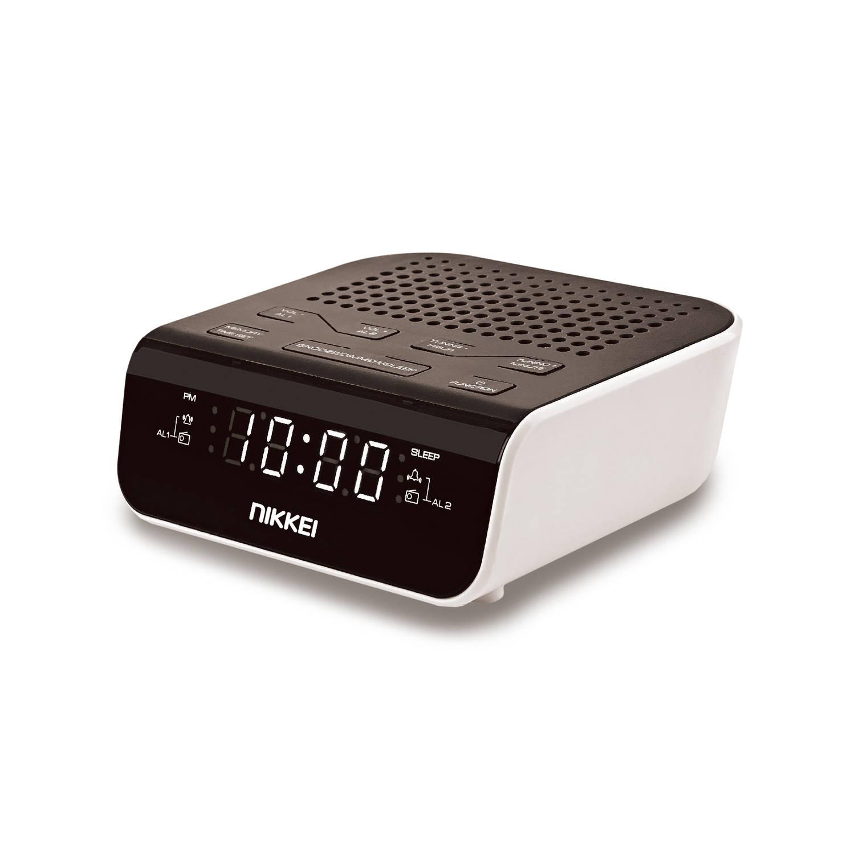 Nikkei Wekkerradio nr160u - fm radio - usb - wit