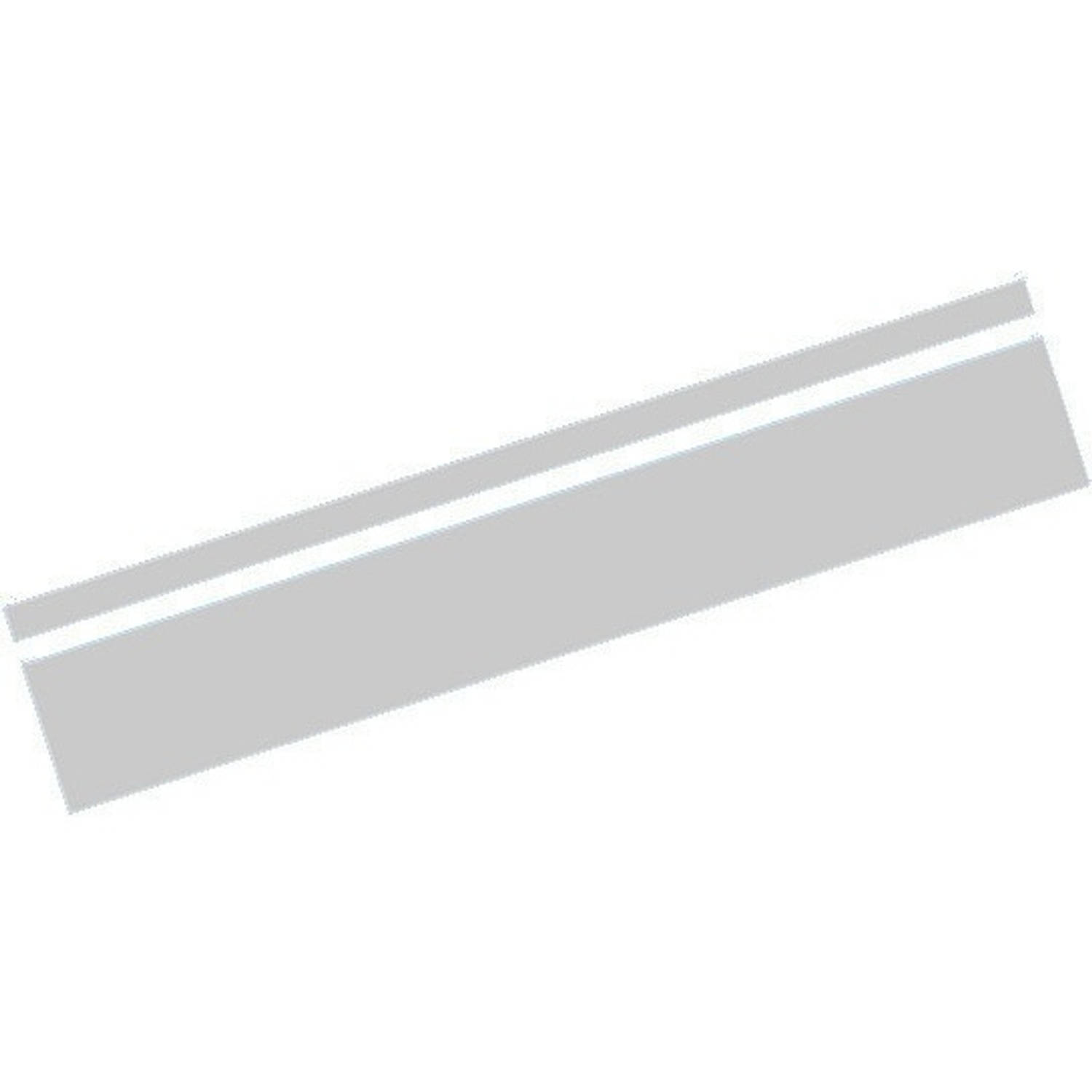 AutoStyle sticker RacingStripe150 30+100 mm 5 meter zilver