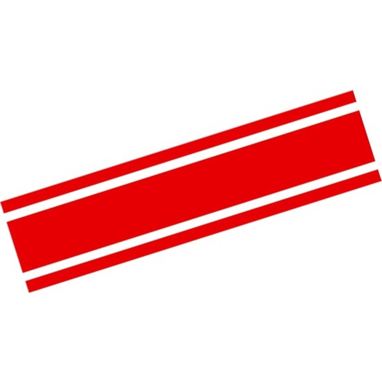 AutoStyle sticker RacingStripe150 20+90+20 mm 5 meter rood