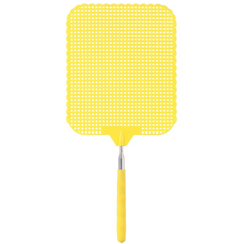 Korting Gele Uitschuifbare Vliegenmepper 76 Cm