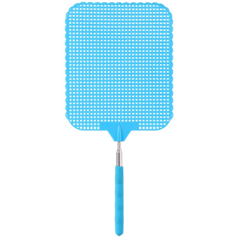 Korting Blauwe Uitschuifbare Vliegenmepper 76 Cm