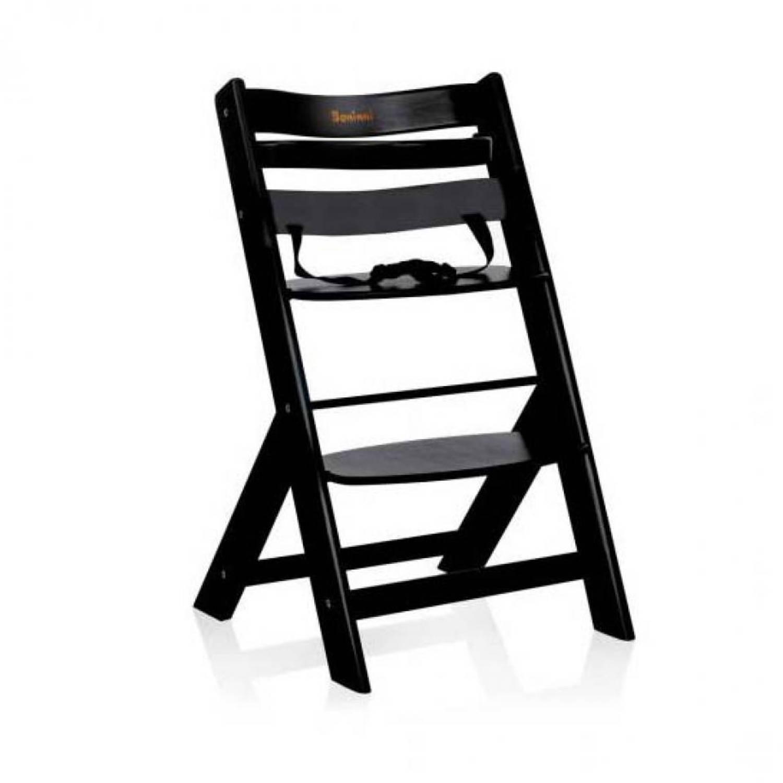 Kinderstoel Hout Verstelbaar.Baninni Scala Kinderstoel Zwart