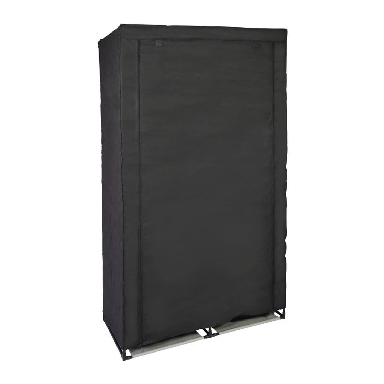 Tijdelijke kledingkast/garderobekast 169 cm zwart - Camping/zolder