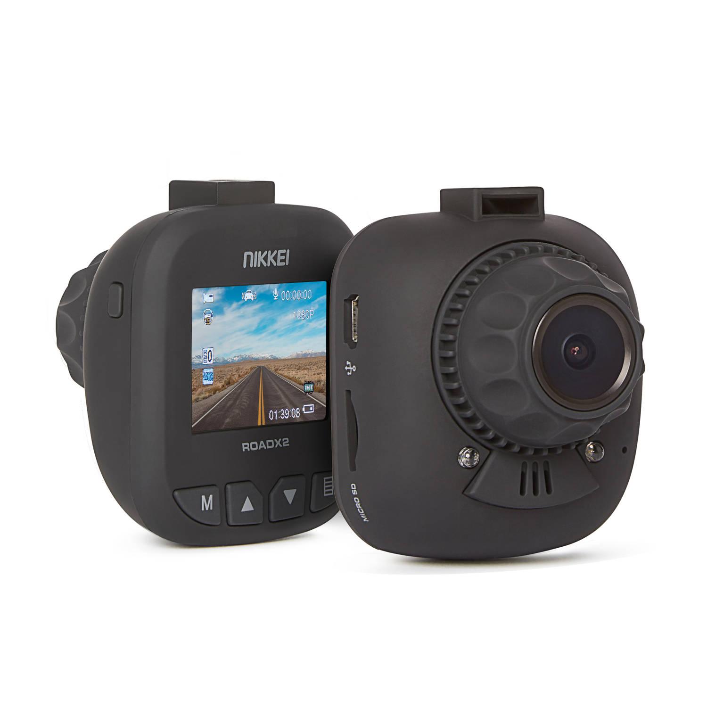Nikkei Dashcam roadx2 - Full hd - kleine camera - 30 fps - 140 graden beeld