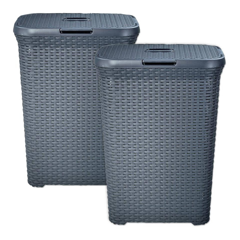 Curver Style wasbox 60 liter grijs set van 2