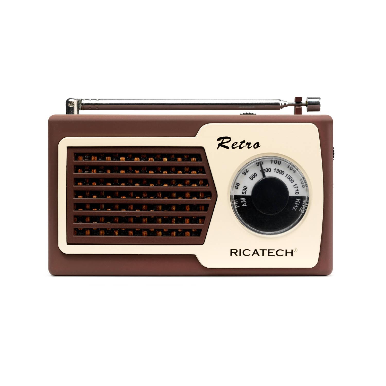 Ricatech Compact retro radio PR22 - bruin