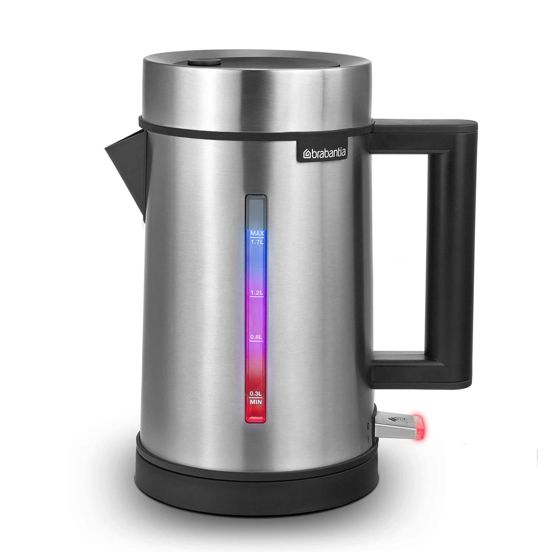 Brabantia Waterkoker D1-4 - 1.7 Liter - LED temperatuur indicatie - RVS