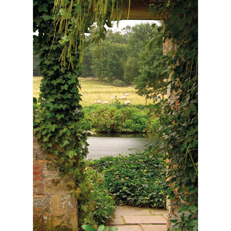 Tuinschilderij Garden view ivy 70x130cm PB-Collection