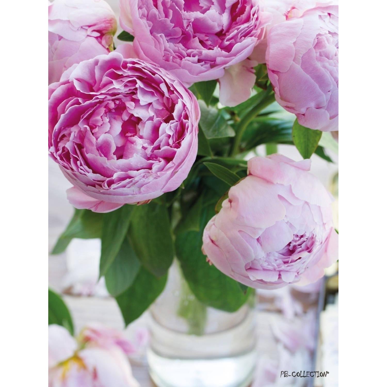 Tuinschilderij Peony Vase 70x130cm PB-Collection