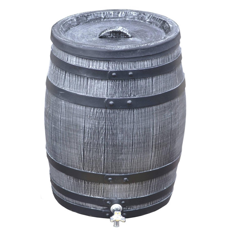 Regenton 50 liter grijs