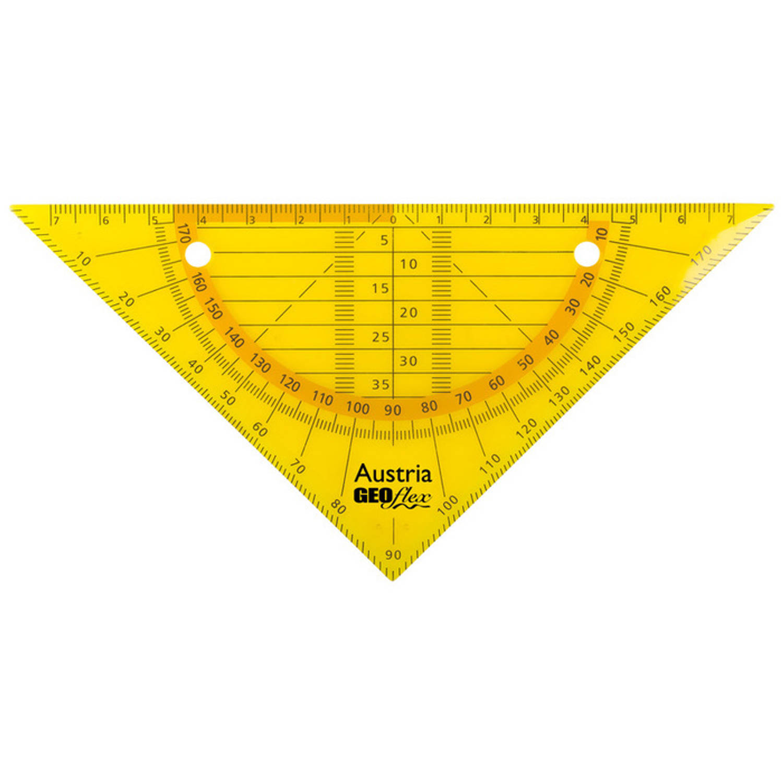 Korting Geodriehoek Aristo Geoflex 14cm Flexibel Neon Oranje