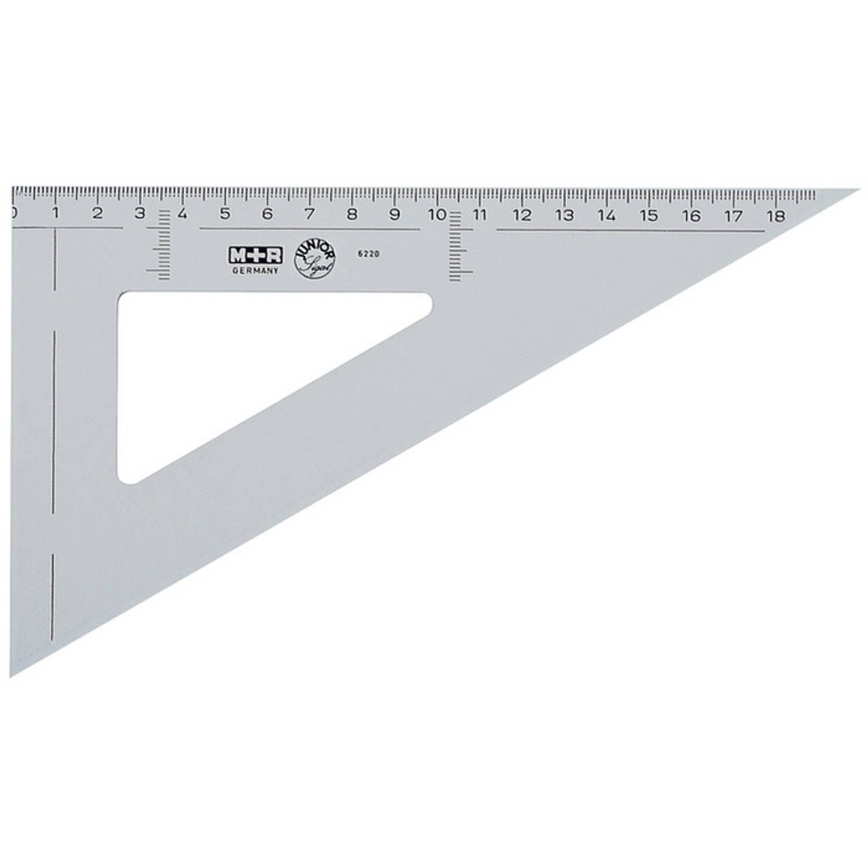 Korting Driehoek Möbius en Ruppert 20cm 60gr Kunststof Grijs