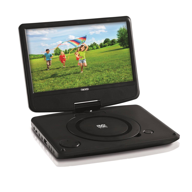 Nikkei Draagbare DVD speler npd909 - 9 inch - usb - remote - zwart