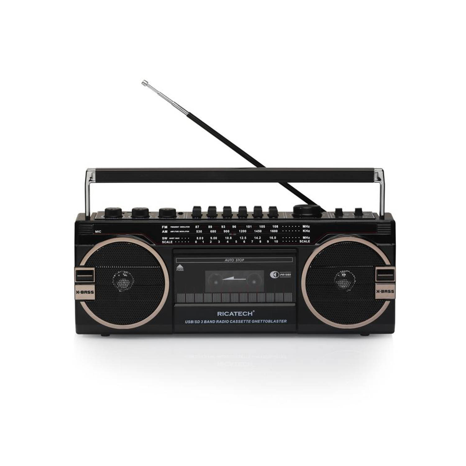 Ricatech retro radio USB ghettoblaster PR1980