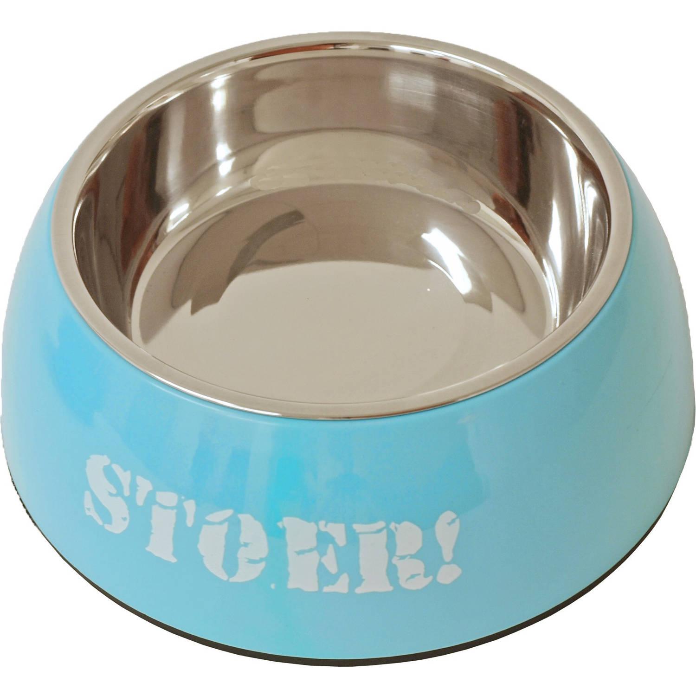 Boys plastic/RVS eetbak hond Stoer 18 cm
