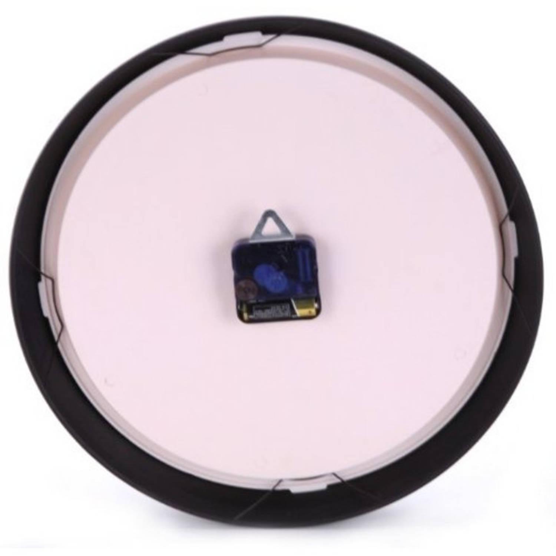 Wandklok NeXtime dia. 25 cm, metaal, zwart, Aaltje