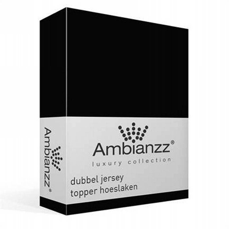 Afbeelding van Ambianzz Dubbel Jersey Topper hoeslaken - 1-persoons (80/90/100x200/220 cm)