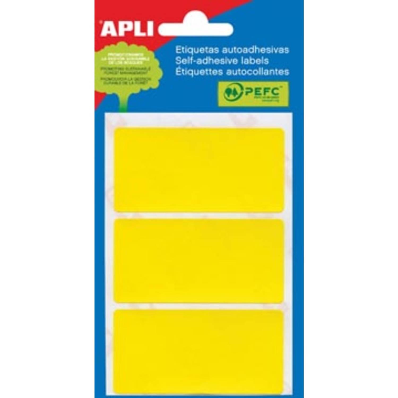 Korting Apli Gekleurde Etiketten In Etui Geel (2071)