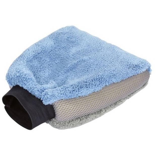 Protecton washandschoen microvezel 27 x 18 x 4,5cm blauw/grijs
