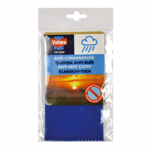 Valma anti-condensdoek 31 x 22 cm textiel blauw