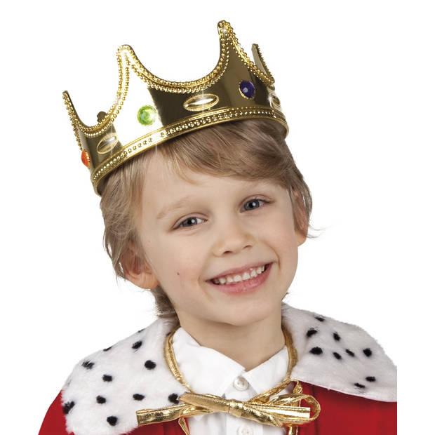 Boland kinderkroon Koning jongens goud