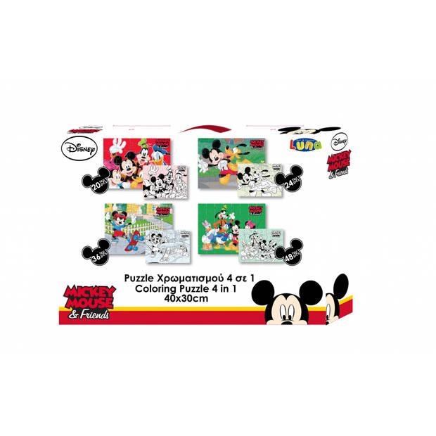 Luna Disney 4-in-1 puzzel 30 x 40 cm