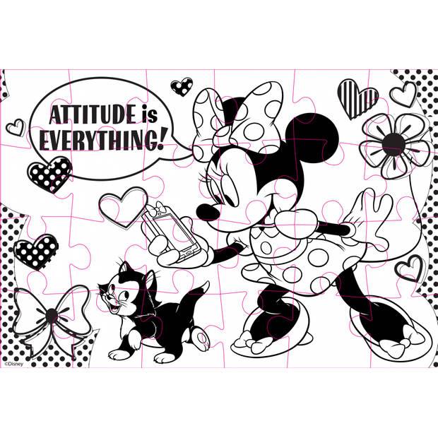 Luna Minnie Mouse 2-zijdige puzzel 24 stukjes