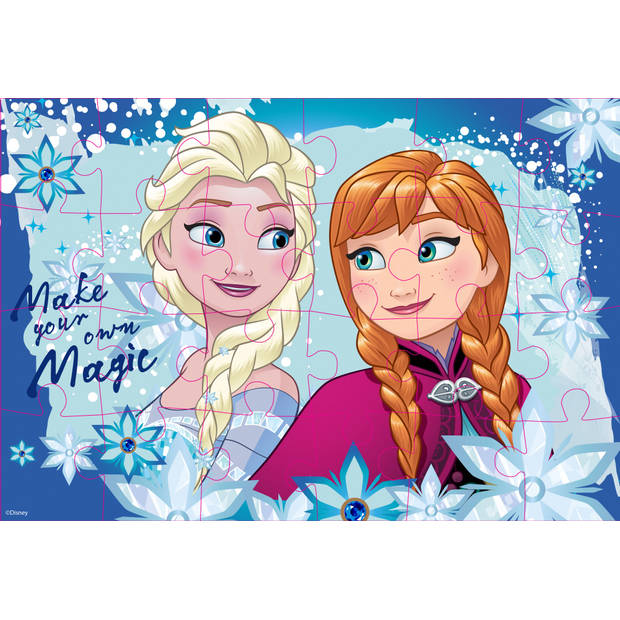Luna Frozen 2-zijdige puzzel 24 stukjes
