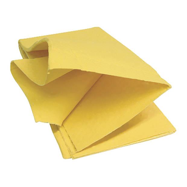 Protect zeem 40 x 35 cm synthetisch geel