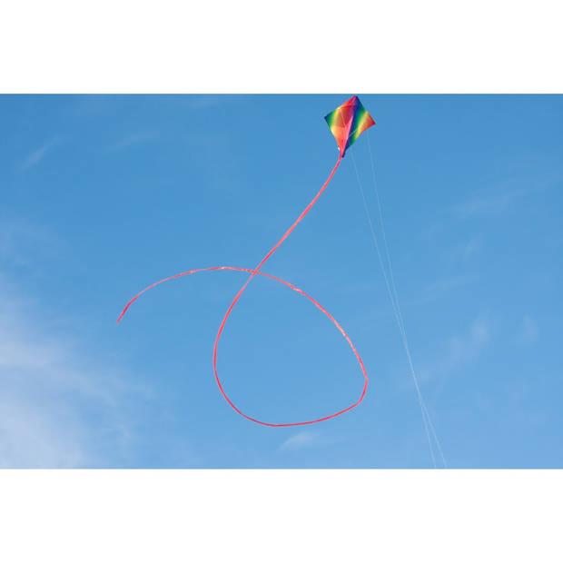 HQ tweelijnsvlieger Dancer Rainbow 90 cm