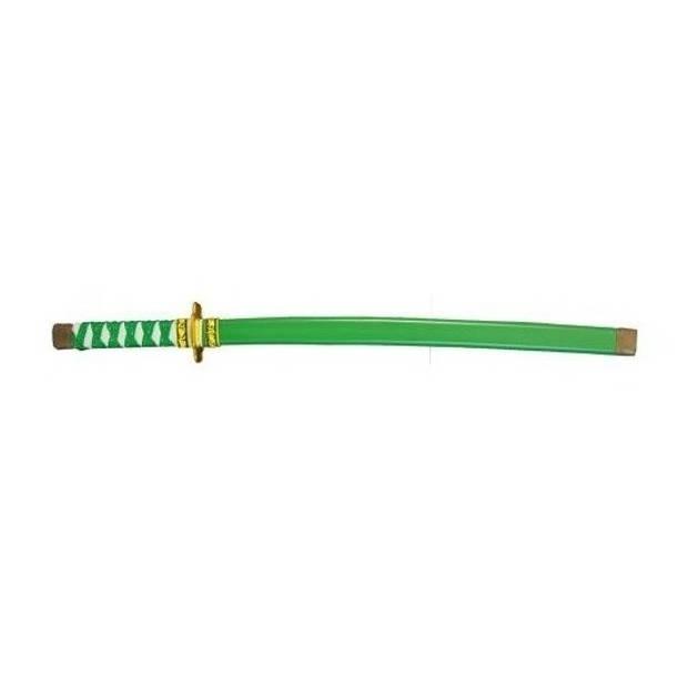 Groen plastic ninja/ samurai zwaard 60 cm