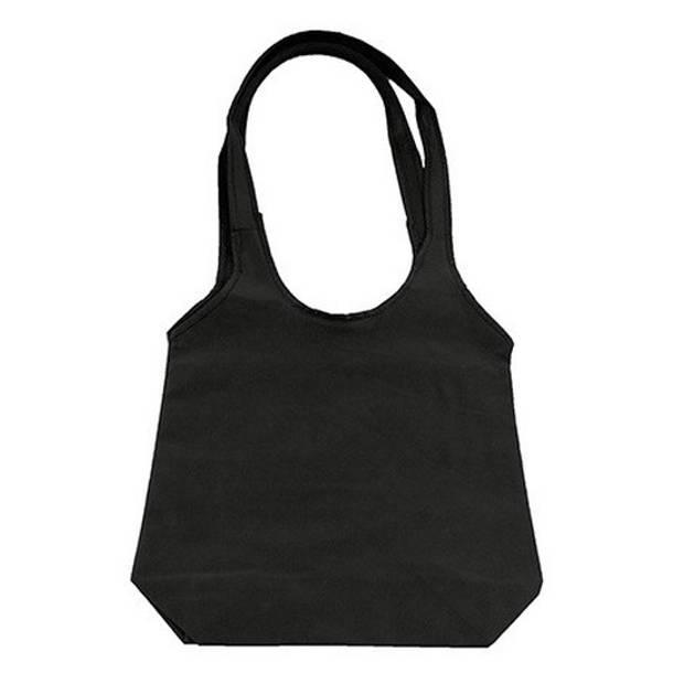 Zwarte opvouwbare tas met hengsels 43 x 41 cm - Shopper