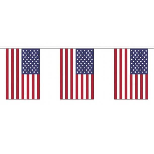 Buiten vlaggenlijn USA/Amerika - 300 cm - slingers versiering