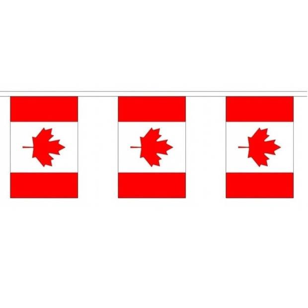 Buiten vlaggenlijn Canada - 300 cm - Canadese slingers versiering